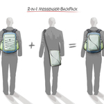 2-in-1 Messenger-Backpack