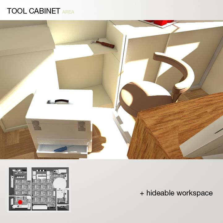 A tool cabinet 28 bigger