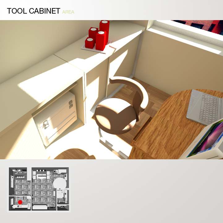 A tool cabinet 27 bigger