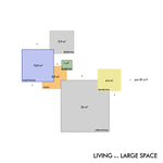 LIVING  in a LARGE SPACE