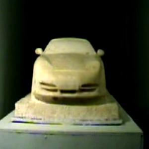 Car wash-soup sculpture