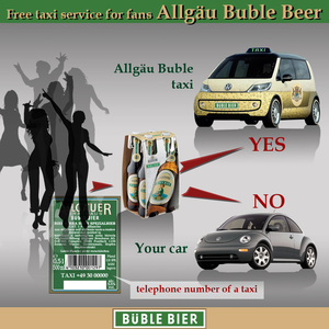 Free taxi service for fans Allgäu Buble Beer