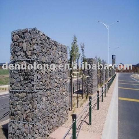 Heavy hexagonal wire mesh gabion box stone bigger
