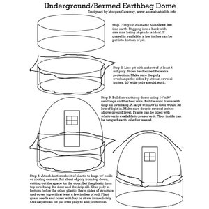 Hill House - Underground/Bermed Earthbag Dome