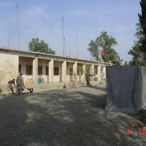 Hesco-walled home