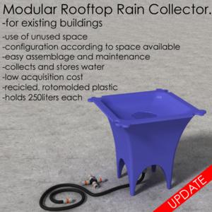 Modular Rooftop Rain Collector