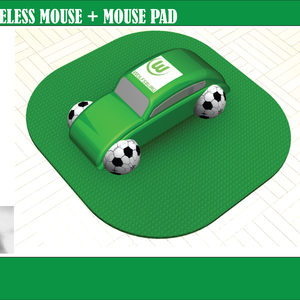 VW Beetle Mouse + Mouse Pad
