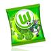 Grüne Gummi-Wölfi's