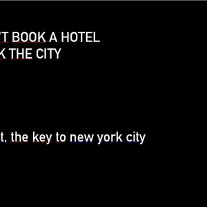Don't Book a Hotel, book the city