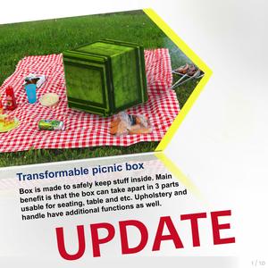 Transformable picnic box