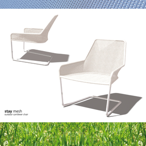 STAY mesh/network outdoor cantilever chair