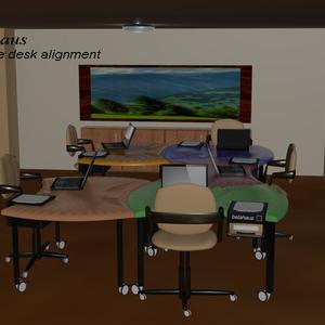 Flexible desk alignment...