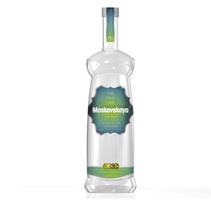 The new Russian Folk Moskovskaya bottle