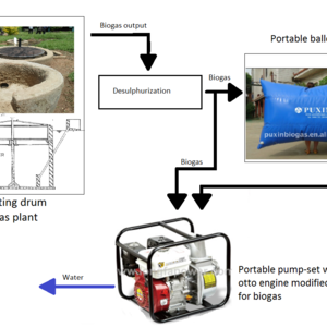 Biogas to secure water supply for field irrigation