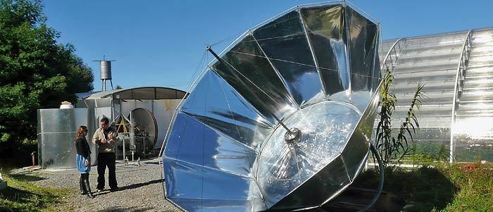 Solar stirling common waterpump 2 bigger