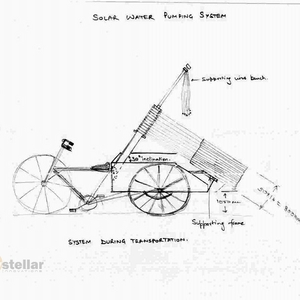 Tricycle mounted foldable Solar Water Pumping System