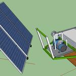 Solar panel powered portable water pump