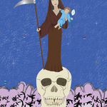 Conceptual illustration Our Lady of Death