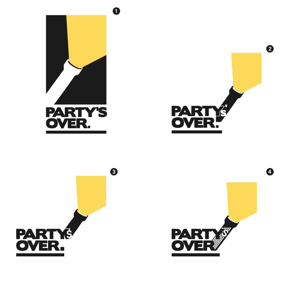 Partys over logo variants bigger