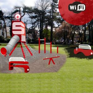 Spielplatz mit Wifi