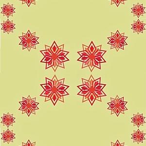 Geometrical flower pattern