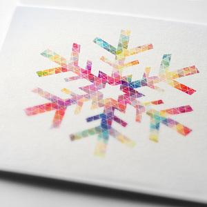 Colorful snoflake