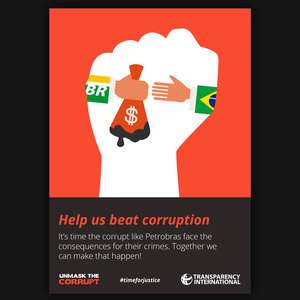 Beat corruption - Fist against Petrobras