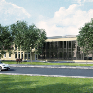 Rehabilitation and extension of an old hospital within a fixed budget.