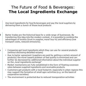 Local ingredients exchange