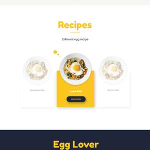 Egg - Product landing page design concept