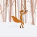Fox enjoying snow