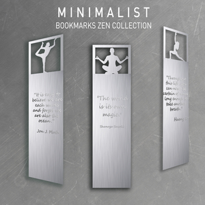 Minimalist Bookmarks - Zen Collection Simple| Elegant | Aluminum