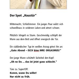 """Der Spot """"Haustür"""""""