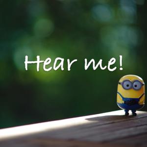 'Hear me!' app